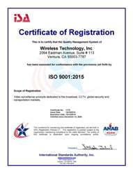 Certificate of Registration - WTI ISO